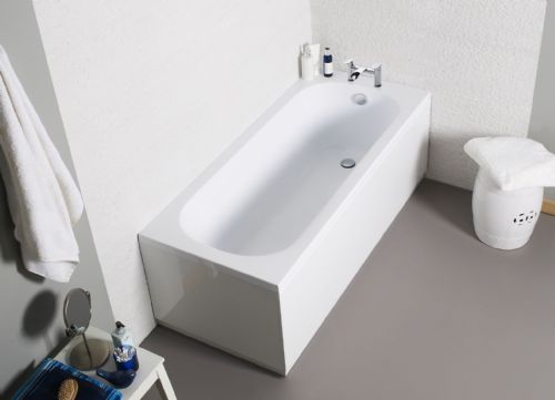 Oliver George Burton Single Ended Bath 1700mm x 700mm White
